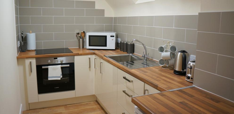 Kitchen in Apartment at Bordeaux, Guernsey