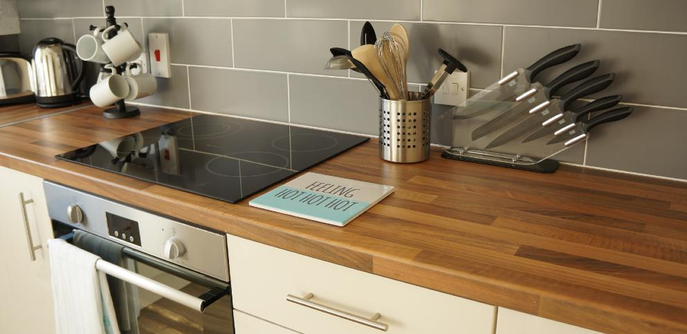 Kitchen in superior cottage - Ellingham Self-Catering Cottages