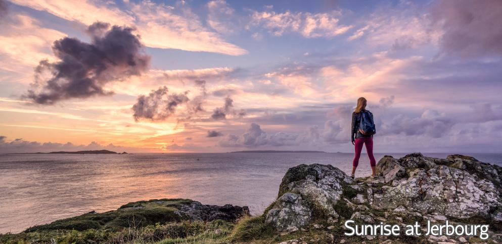 Sunrise at Jerbourg Point, Guernsey