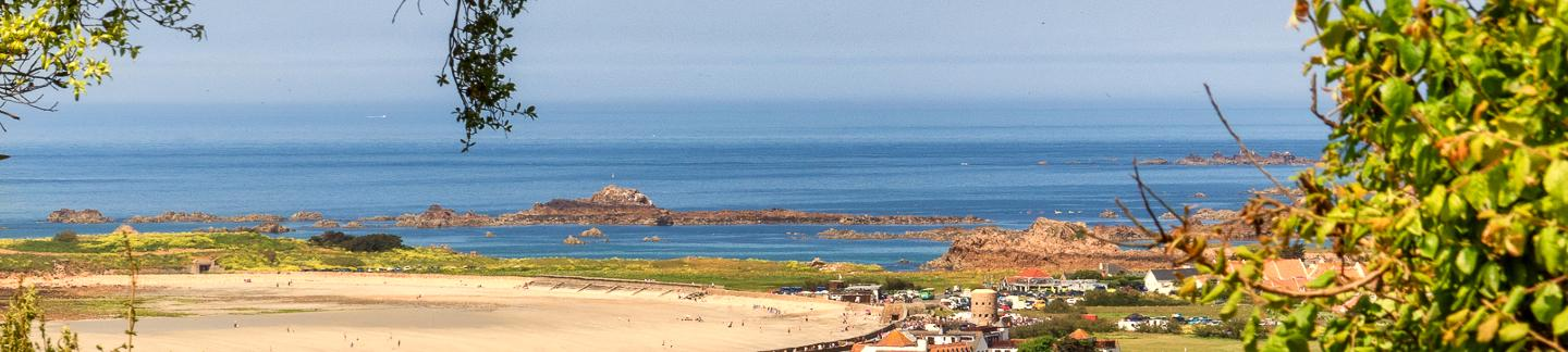 View over Vazon Bay in Guernsey