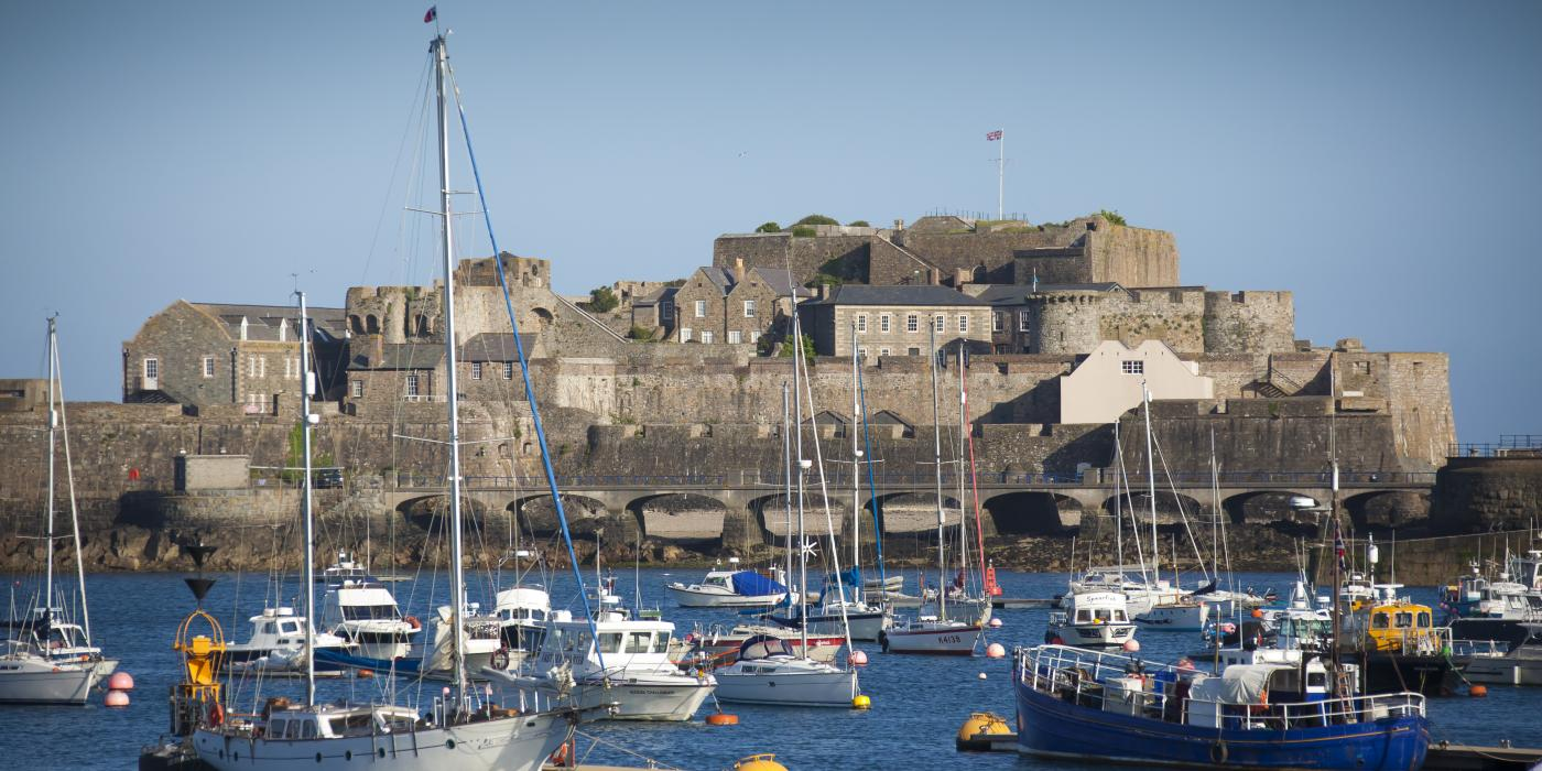 Castle Cornet is close to The Ellingham holiday cottages in Guernsey