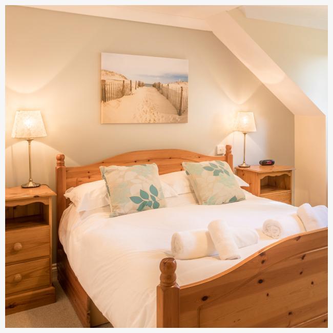 master bedroom at The Ellingham Cottages in St Martins, Guernsey