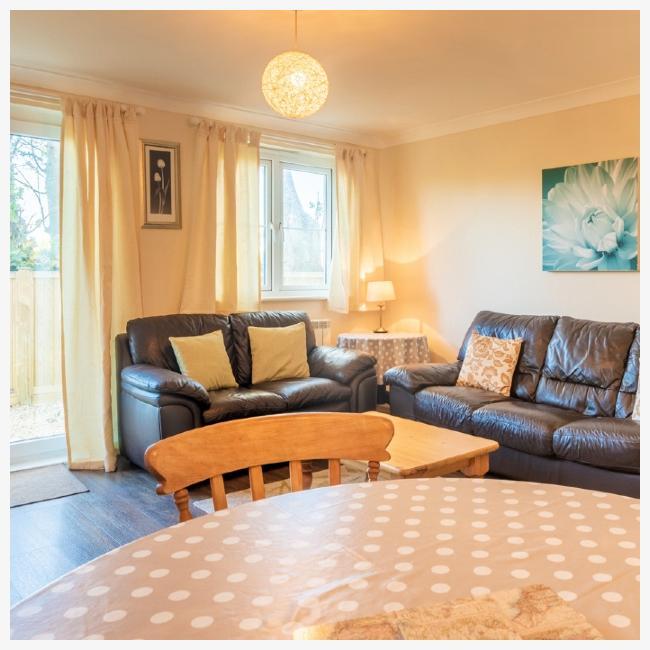 Living room in The Ellingham Cottages in St Martins, Guernsey