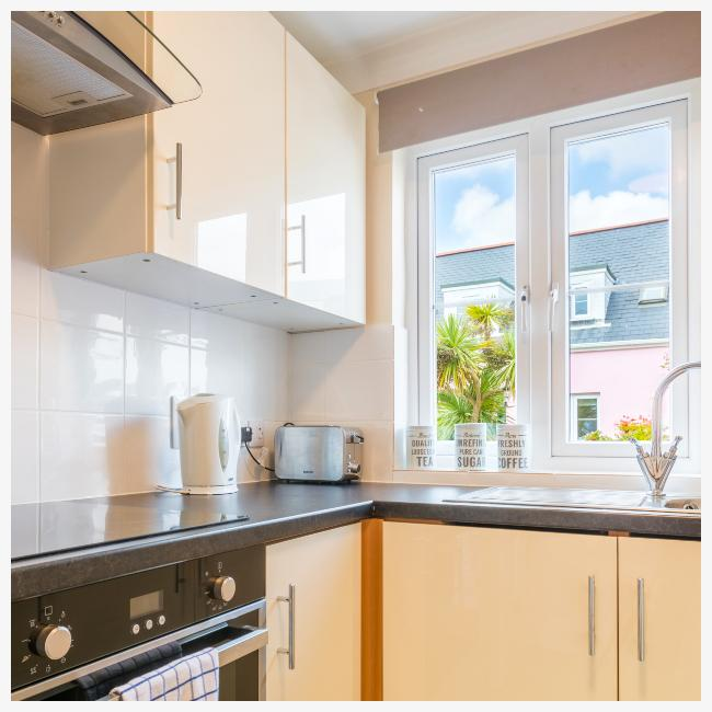Kitchen in The Ellingham Cottages in St Martins, Guernsey