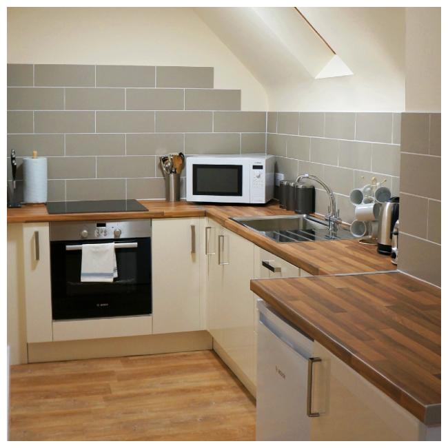 Kitchen at Ellingham Apartments at Bordeaux