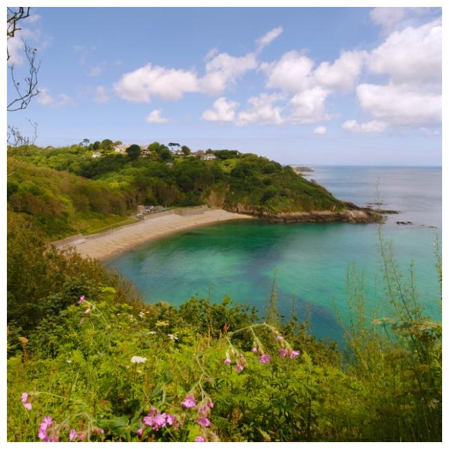View of Fermain Bay, St Martins, Guernsey