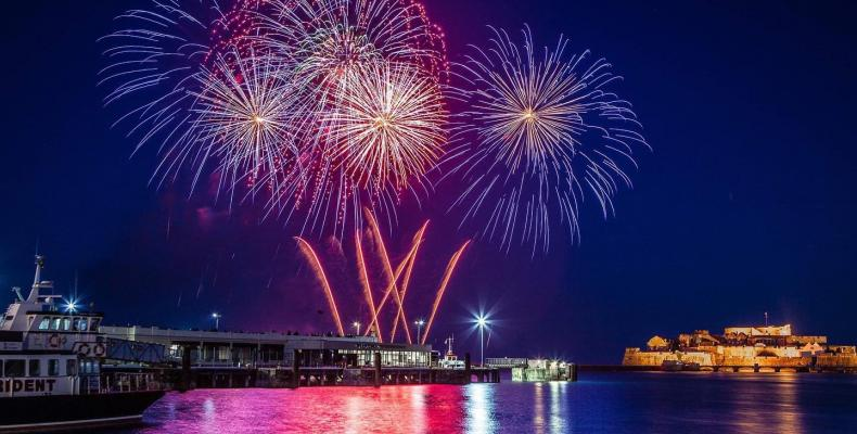Fireworks over St Peter Port